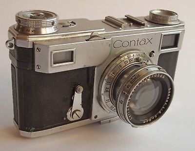 Zeiss Ikon CONTAX II with 5cm f2 SONNAR 35mm Rangefinder + Case (needs CLA)