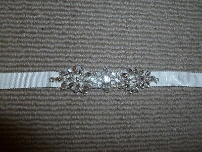 Brand New Without Tags Amixi Crystal And Fabric Bridal Belt - One Size