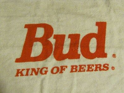 Bud King of Beers Golf Bag Towel Brand New Authentic Sealed