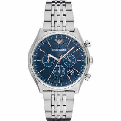 BRAND NEW Emporio Armani Chronograph Stainless Steel Blue Dial Mens Watch AR1974