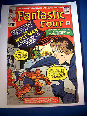 1964 * FANTASTIC FOUR #22 * Marvel Comics est 8.0 VF * RARE Off WHITE Pages !!!!