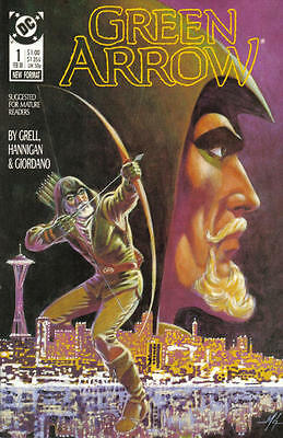 Dc Green Arrow #1 Comic Mike Grell 1988 Black Canary