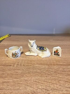 Crested Wear Middleton-in-teesdale Dog Figure. Arcadian. Plus 2 similar items
