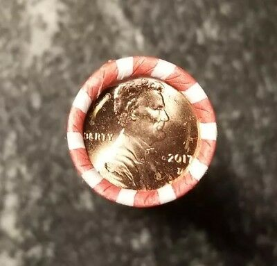 1 Roll 2017-D Lincoln Cent New Uncirculated bank rolled.