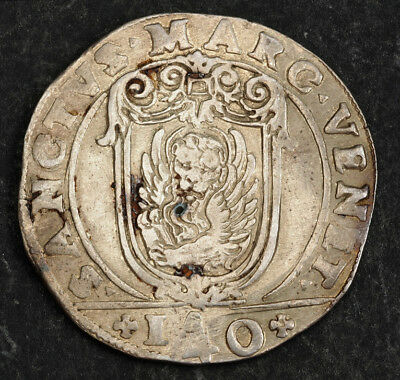 1624, Venice, Francesco Erizzo. Large Silver Scudo (140 Soldi) Coin. Cleaned XF!