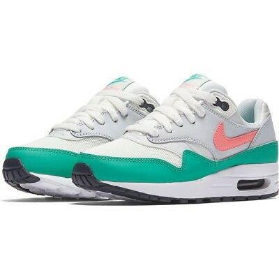 Nike Youth Air Max 1 GS Summit White Sunset Pulse 807602 105 Size 5Y