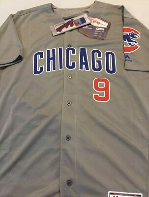 1d4e87fa4 Javy Baez Chicago Cubs Jersey Gray Majestic Flex Base Mens Medium-2XL