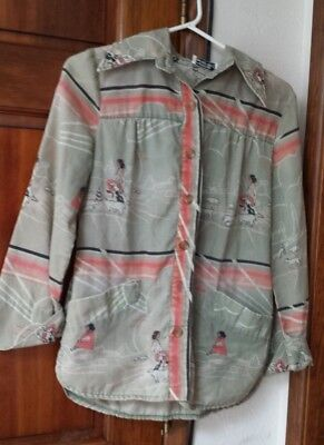1970's Vintage Shirt American Indian/Native American Design - small