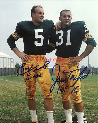JIM TAYLOR & PAUL HORNUNG GreenBay Packers Signed 8x10 Autographed Photo reprint