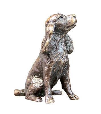 Butler & Peach Detailed Small Solid Hot Cast Bronze Spaniel Dog - Great Gift