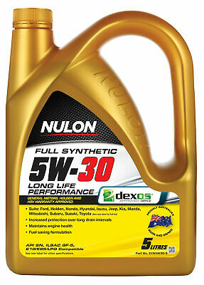 Nulon Full Synthetic Long Life Engine Oil 5W30 5L SYN5W30-5 fits Audi A1 1.0 ...