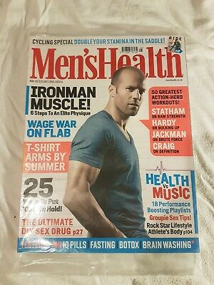 Unread Mens Health Magazine May 2013 Jason Statham Cover Model & Ride Supplement