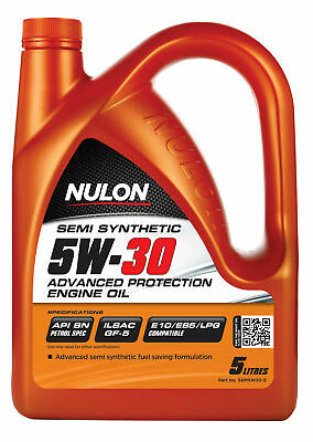 Nulon Semi Synthetic Advanced Protection Engine Oil 5W30 5L SEM5W30-5 fits Au...