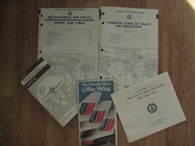 2 Vintage Dod Catalog Of Nautical Charts-Charts, Publications, Sheets, Tables