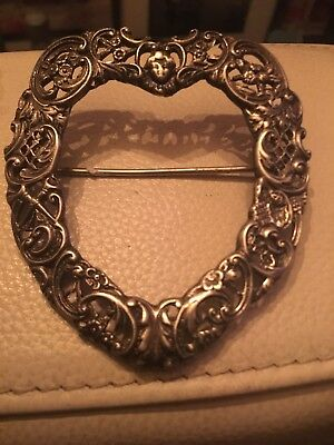 Victorian Heavy Solid Sterling Silver Ornate Belt BUCKLE 1897 Synyer Beddoes 49g