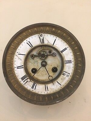 Antique French Mantle Clock Movement, Parts, Spares, Repairs