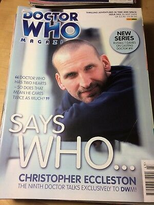 DWM 343 DOCTOR DR WHO MAGAZINE May 2004 Christopher Eccleston