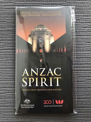2018 ANZAC SPIRIT COIN official Collection (15 Coins with FOLDER)