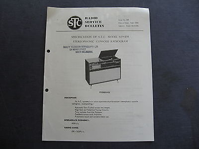 STC Console Radiogram SERVICE BULLETIN