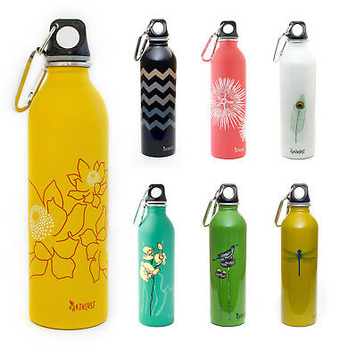 EarthLust 20oz Designer Reusable Stainless Steel Metal Water Bottle 16 22oz NEW