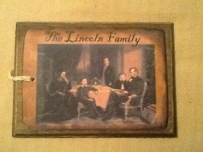 5 WOODEN PRiM Americana Hang Tags/Ornaments/Bowl Fillers LINCOLN/CABIN SET*0