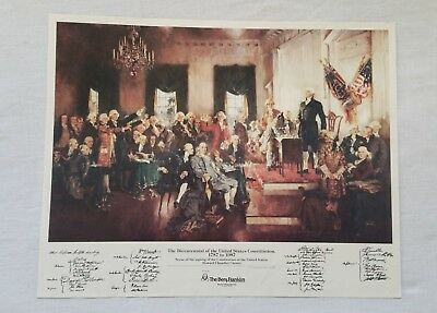 Howard Chandler Christy, vintage art print, Singing of the Constitution 1987
