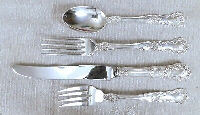 Buttercup 1899 ~ 1 - 4 pc Place Setting ~ Gorham Sterling ~ Old Marks* ~ 115 gms