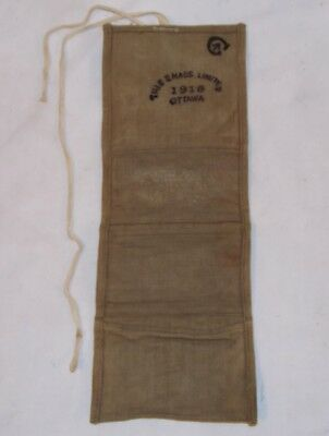 "Canadian Expeditionary Forces Army ""Housewife"" Sewing Kit Case WW I 1918 Antique"