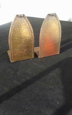 Roycroft (old mark) copper bookends.
