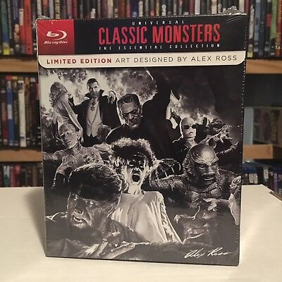 Universal Classic Monsters The Essential Collection (Blu-Ray) Alex Ross Art New