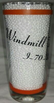 1973 Windmill Truckers Center Inc. drinking glass Dallas Pike WV West Virginia