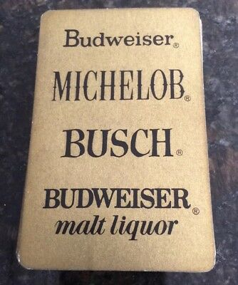 Vintage Budweiser, Michelob, Busch, Budweiser Malt Liquor Playing Cards