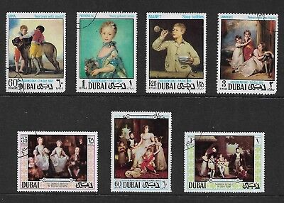 DUBAI 1968 & 1970 Childrens Day, Paintings, sets, CTO