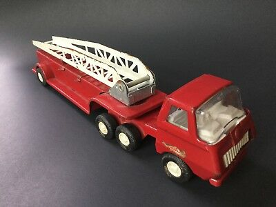 TONKA Vintage Red Fire Truck with Ladder #55170 Diecast Metal Minimal Rust Used