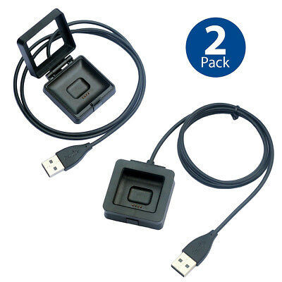2 PCS Charging Dock for FitBit Blaze Watch Replacement USB Charger Cradle Cable