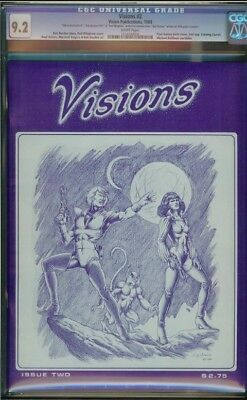 Visions #2 cgc 9.2 artist proof unpressed or cleaned 2nd flaming carrot