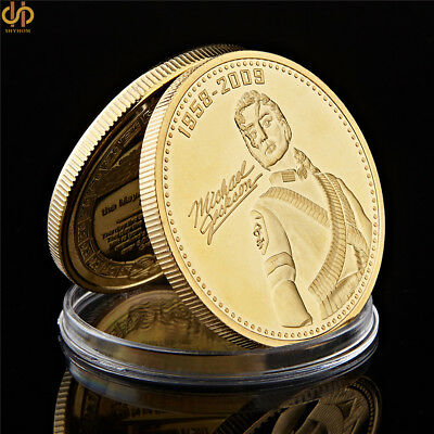 The King of Pop Michael Jackson Gold Plated Coin Commemorative Annivesarry Gift