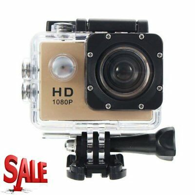 Waterproof Full HD 1080P 12MP Car Cam Sports Action Camera DV Camcorder GOLD NEW