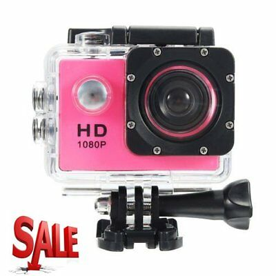 Waterproof Full HD 1080P 12MP Car Cam Sports Action Camera DV Camcorder Pink NEW
