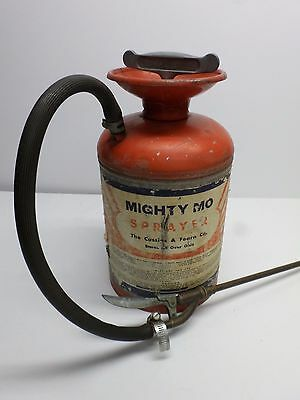Vintage MIGHT MO GARDEN TANK SPRAYER - All Metal BRASS WAND