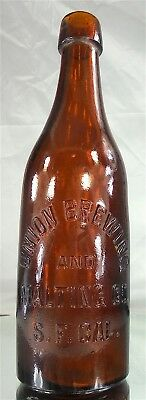 Union Brewing And Malting San Francisco California Blob Top Pt. Beer Bottle