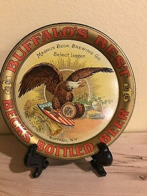Pre Prohibition Magnus Beck Brewing Co Beer Buffalo NY Tip Tray Select Lager