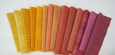 """HAND DYED RUG HOOKING WOOL  - Wool applique - """" Yellow, Melon"""" by Quilting Acres"""