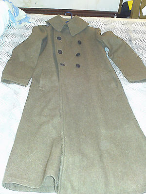 US Army m-1918 overcoat MUSEUM QUALITY -MINT!  **FREE SHIPPING**