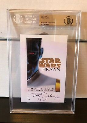 Timothy Zahn Signed Auto Star Wars Thrawn Bestselling Author Beckett Authentic