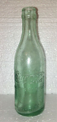 Fort Worth Tex Texas TX Bimal Script Straight Side Sided Coca Cola Bottle Ft