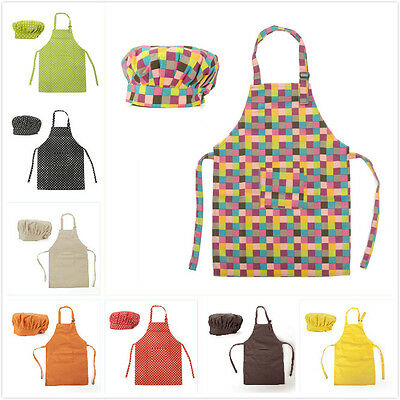 Adult Painting Apron Set w/ Hat Pocket Kitchen Chef Cooking Art Custom Opromo
