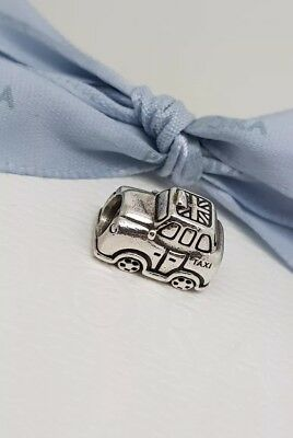 Authentic Pandora Sterling Silver London Taxi Cab Charm 791221EN20 Retired