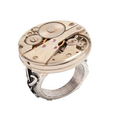 Retro Gothic Steampunk Mechanical Watch Movement Ring Vintage Steampunk Ring
