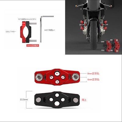 Cool Durable 1x 54mm Red+Black CNC Aluminum Alloy Motorcycle Pressure Code Stent